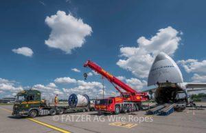 Transportgestelle für Bobinentransport mit der Antonov
